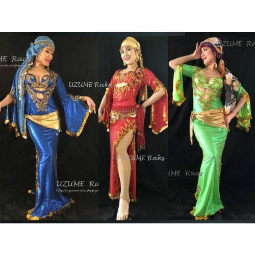 ベリーダンス 衣装 サイディー バラディー ドレス 本格派 高級 豪華 ブラ&ドレスセット