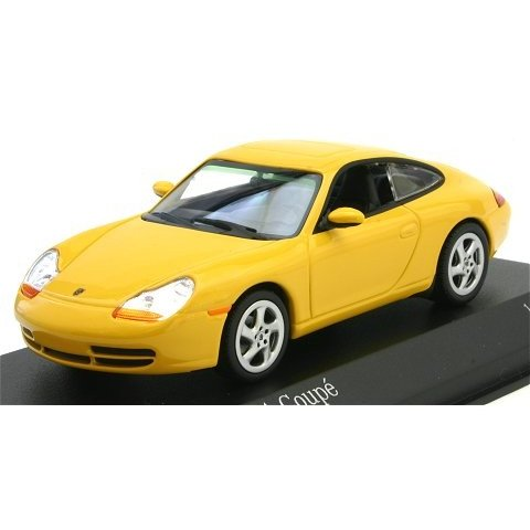 ポルシェ 911 (996) クーペ 1998 イエロー (1/43 ミニチャンプス400061182)