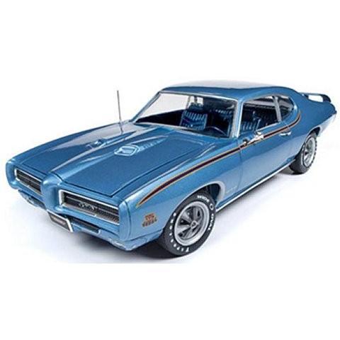 1969 ポンティアック GTO ジャッジ (MCACN) ウォーウィックブルー (1/18 アメリカンマッスルAMM1171)