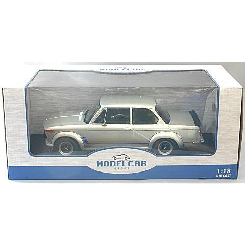 BMW 2002 ターボ 1973 シルバー (1/18 モデルカーグループMCG18149)|v-toys|02