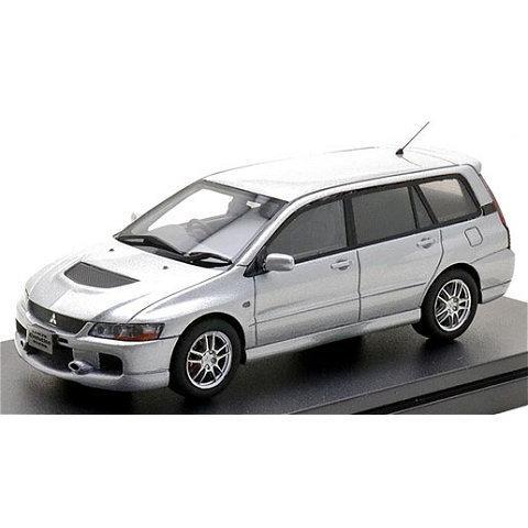 ミツビシ ランサー エボリューション ワゴン GT-A 2005 クールシルバーM (1/43 ハイストーリーHS298SL)|v-toys
