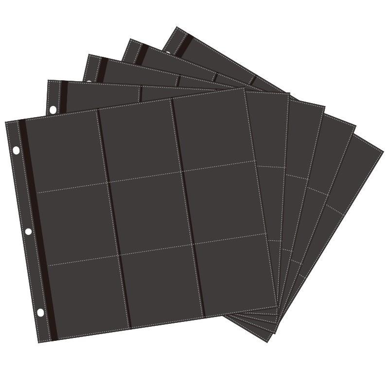 ましかく414アルバム用 黒ポケット替台紙 5枚入り ましかく写真(89x89mm)対応 追加リフィル 万丈 v-vanjoh