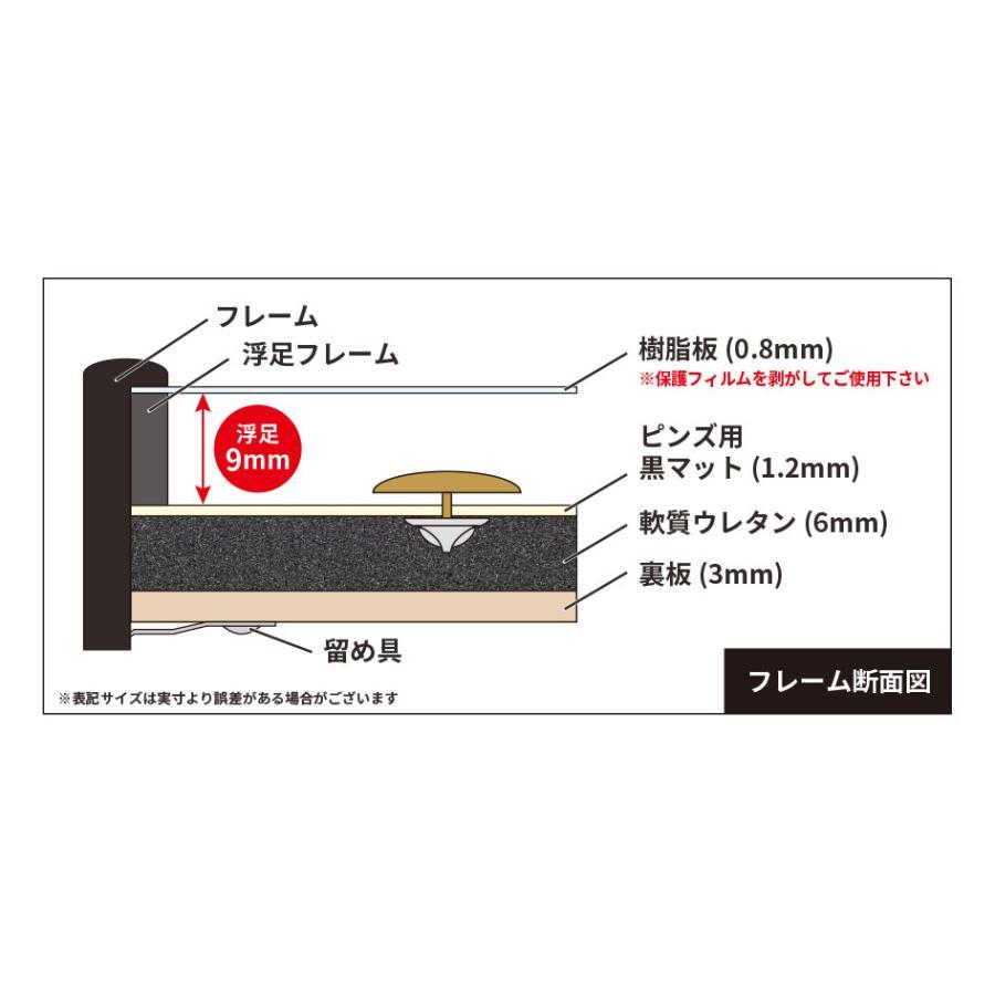 SLIM ピンズフレーム 2L ブラック SPF-2L-BK 深さ9mm 万丈 ピンバッジ 飾る コレクション 記念品 額縁|v-vanjoh|03