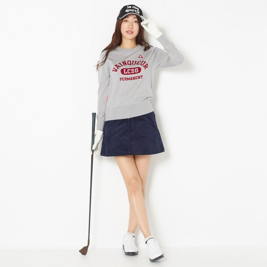 le coq sportif GOLF ルコックゴルフ ウールロゴジャカードクルーセーター
