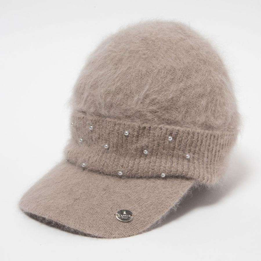 LANVIN SPORT ランバン スポーツ ニットキャップ 帽子 ベージュ サイズ:フリー