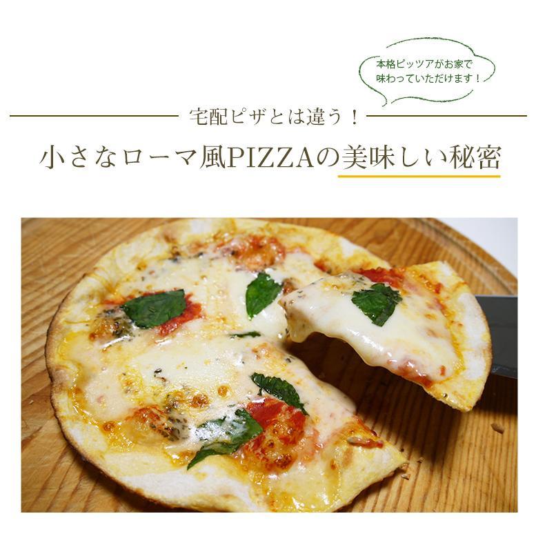 ピザ マルゲリータ 本格ピザ 15cm イタリアの小麦粉を使用したシェフ自慢の手作り本格ピザ クリスピー 冷凍ピザ 無添加 チーズ セルロース不使用 vallata 05