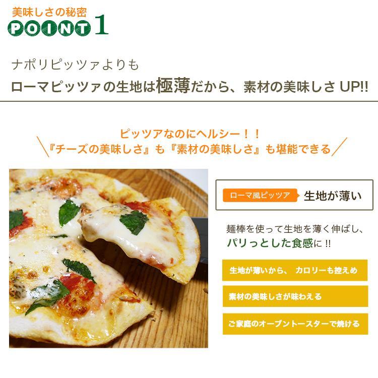 ピザ マルゲリータ 本格ピザ 15cm イタリアの小麦粉を使用したシェフ自慢の手作り本格ピザ クリスピー 冷凍ピザ 無添加 チーズ セルロース不使用 vallata 06