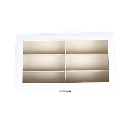 Goetland 眼鏡 メガネ サングラス 収納 ケース ボックス コレクション 展示用 ガラス天板 大容量 12本(二段式)|value-jp|07