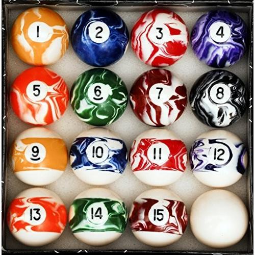 テーブル ビリヤード ボールセット Marble/Swirl Style-