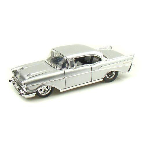 ダイキャストカー 1957 シェビー ベルエアー Chevy Bel Air シルバー 1/24