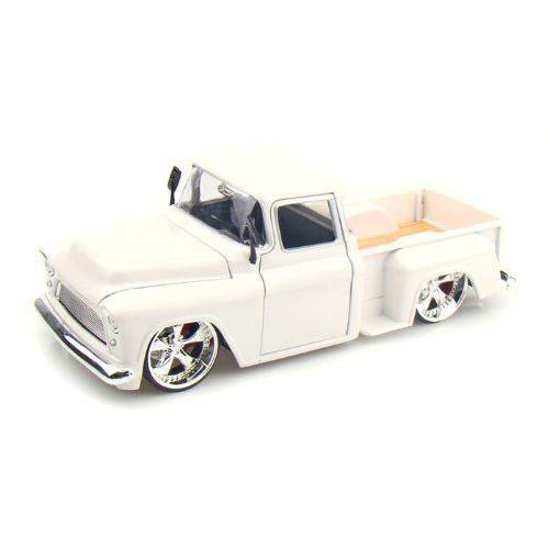 ダイキャストカー 1955 シェビー Stepside ピックアップ トラック ホワイト 1/24