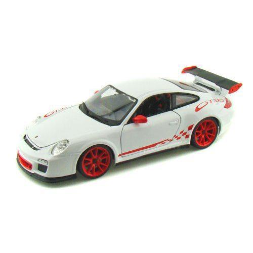 ダイキャストカー ポルシェ 911 カレラ GT3 RS ホワイト/レッド 1/18