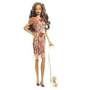Barbie 2007 ピンク Label Collection - Birthstone Beauties - November MISS TOPAZ African American Dol