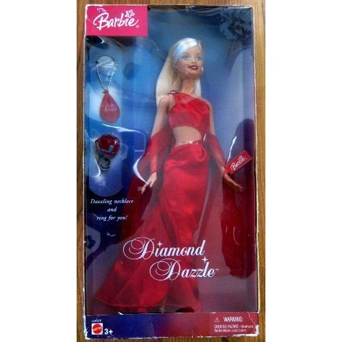 Barbie バービー Doll; Diamond Dazzle; with a Dazzling Necklace and Ring for You 人形 ドール