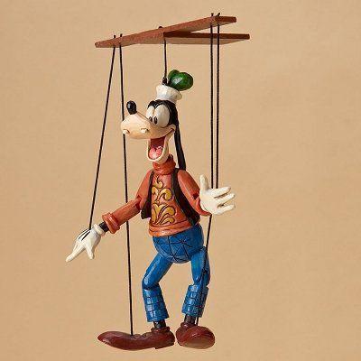 エネスコ ディズニートラディション 木彫り調フィギュア マリオネット グーフィー 4023579 「」
