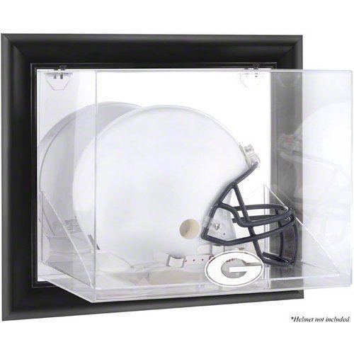 NCAA - Georgia Bulldogs Framed Wall Mountable Logo Helmet Display Case