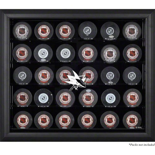 NHL - San Jose Sharks Framed 30 Hockey Puck Logo Display Case