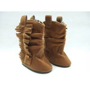 Doll Clothing Suede Fringe Boots. Fits American Girl or Any Similar 18