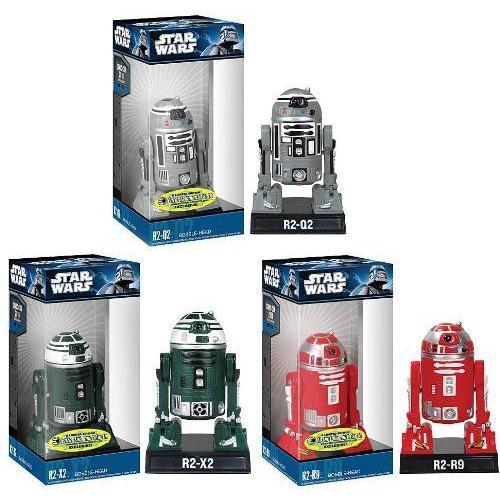 Star Wars スターウォーズ R2 Droid Exclusive Bobble Head バブルヘッド Set Of 3 フィギュア ダイキャ