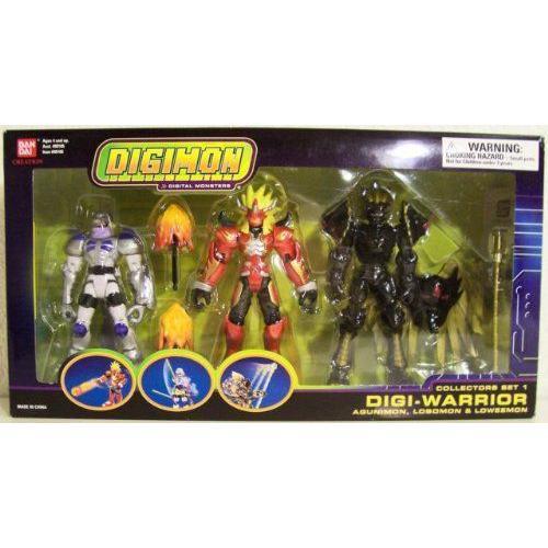 Bandai バンダイ Digimon Digital Monsters Collectors Set 1 Digi-warrior 3 Figure Box Set Agunimon,