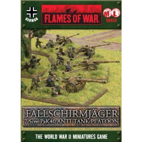 German: Fallschirmajger PaK40 Platoon プラモデル 模型 モデルキット おもちゃ