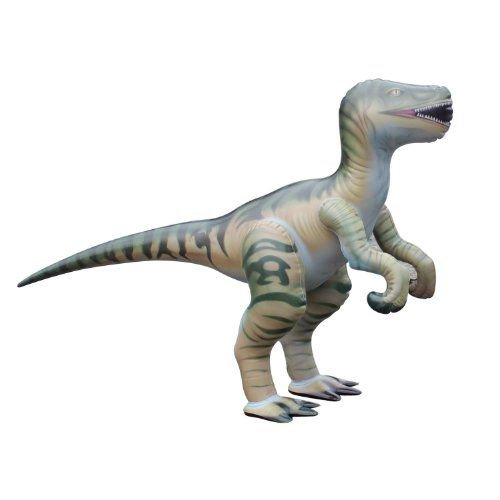 Large Inflatable Velociraptor (L 51 inches) - durable and lifelike フィギュア 人形 おもちゃ