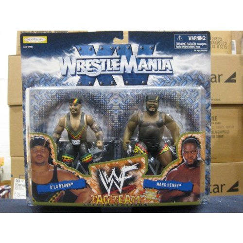 WWF プロレス アメリカンプロレス Wrestle Mania XV Tag Team Special Edition D'lo 褐色/Mark Henry by