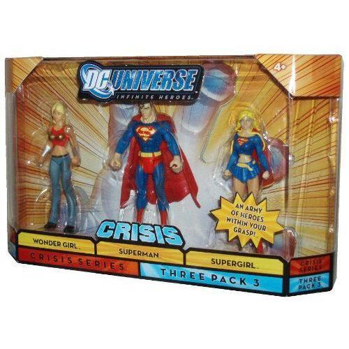 Mattel マテル社 DC Universe Infinite Heroes 3 - Pack Wondergirl / Superman スーパーマン / Supergir