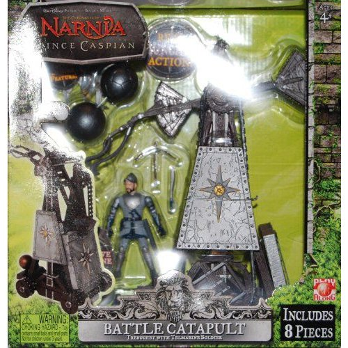 The Chronicles of Narnia Battle Catapult Trebuchet with Telmarine Soldier Battle Damage Figure - R