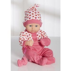 You & Me 12 inch Newborn Baby Doll in Sleepwear - Girl - Dark ピンク ドール 人形 おもちゃ