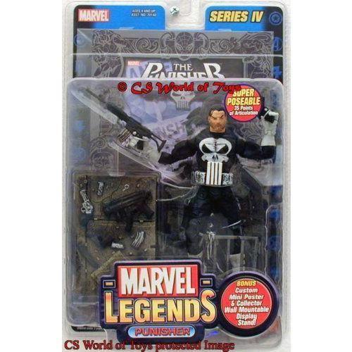 Marvel マーブル Legends Punisher Variant 銀 Foil Poster Series IV フィギュア 人形 おもちゃ