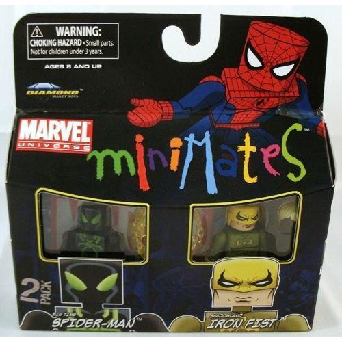 Marvel マーブル Minimates 2-Pack Big Time Spider-Man スパイダーマン & Shadowland Iron Fist フィギ