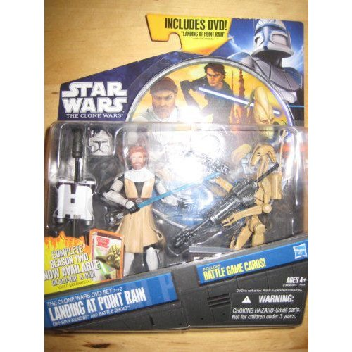 Star Wars スターウォーズ 2011 Clone Wars Animated Exclusive DVD アクションフィギュア 2Pack ObiWan