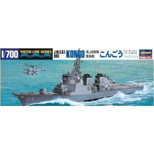JMSDF Guided Missile Defense Destroyer Kongo (DDG-173) (Plastic model) Hasegawa 1/700 Water Line|N