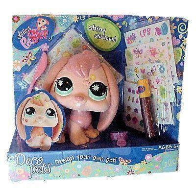 Littlest Pet Shop リトルペットショップ Deco Pets ピンク Bunny フィギュア 人形 おもちゃ
