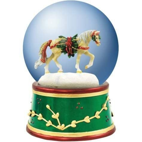 20662 Pine Bundles Snow Globe Horse of a Different Color フィギュア 人形 おもちゃ