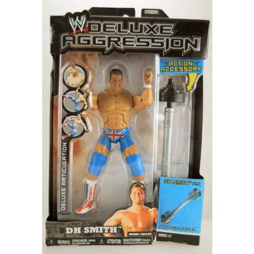 WWE プロレス - 2008 - Deluxe Aggression Series 17 - DH Smith アクションフィギュア - w/ Barbell Lau