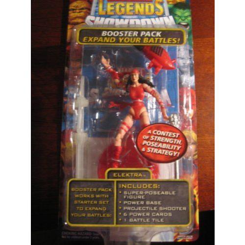 Marvel マーブル Legends Showdown Booster Pack with Super Poseable アクションフィギュア Elektra フ