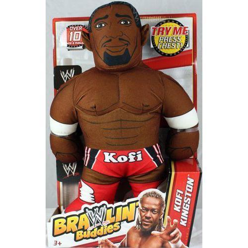 KOFI KINGSTON - WWE プロレス BRAWLIN BUDDIES TOY WRESTLING アクションフィギュア 人形 おもちゃ