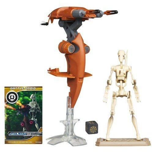 Star Wars スターウォーズ STAP Vehicle with Battle Droid Figure 4 Inches フィギュア 人形 おもちゃ