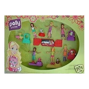 2008 McDonald's マクドナルド Polly Pocket Toys Dolls ~ Complete Set of 6 ドール 人形 おもちゃ