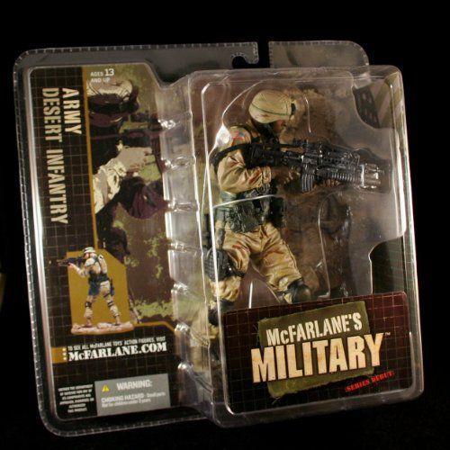 ARMY DESERT INFANTRY * AFRICAN AMERICAN VARIATION * McFarlane's Military Series 1 アクションフィギ