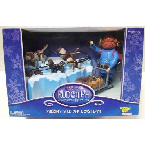 Rudolph and the Island of Misfit Toys Yukons Sled and Dog Team フィギュア 人形 おもちゃ