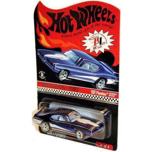 Hot Wheels ホットウィール Real Riders Series 4 3/6 1967 Pontiac GTO 青ミニカー モデルカー ダイキ
