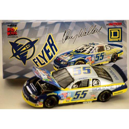 1999 - Action / NASCAR - Kenny Wallace #55 - Square D / Nascar ナスカー Racers: Flyer - 1:24 スケ