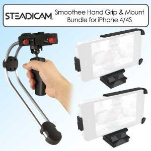Steadicam Smoothee APPLIP4 Hand Grip Bundle With Additional Mount for Apple Iphone 4/4S