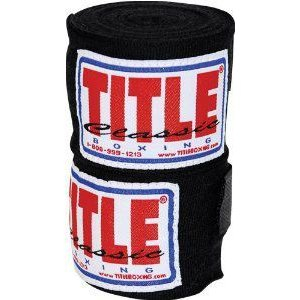 TITLE Classic Mexican Style Hand Wraps (10 Pair) 黒