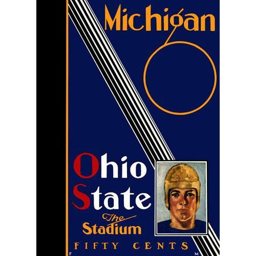 NCAA - 1930 Ohio State Buckeyes vs. Michigan Wolverines 36 x 48 Canvas Historic Football