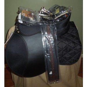 注目のブランド NEW Riviera 17blk Pro leat ss Am English All Saddle Purpose Saddle Pkg-incl Bit ss Irons girth pad leat, GRANNY SMITH APPLE PIE & COFFEE:8912c2b5 --- airmodconsu.dominiotemporario.com