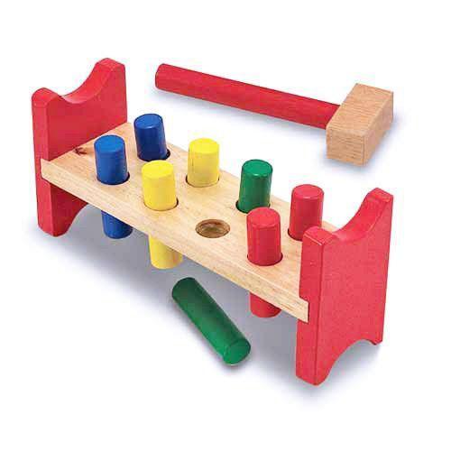 木製 知育玩具 【Pound-a-Peg】